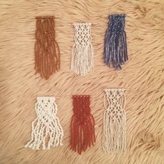 mini macrame / ornaments / wall hangings / by TheLittleAvocado