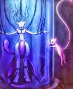 Speedpaint of Mew and Mewtwo Ok. so, this is the first time I draw something Pokemon-related. I loved Pokemon since I was a very young child and I sti. Pokemon Gif, Fan Art Pokemon, Play Pokemon, Nintendo Pokemon, Mew Y Mewtwo, Video Minecraft, Fanart, Kino Film, Pokemon Pictures