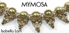MYMOSA Swarovski Pearls and SuperDuo Beadwork Necklace  by bead4me, $46.00