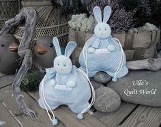 Ulla's Quilt World: Quilted rabbit pouch, Japanese patchwork