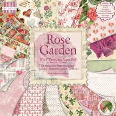 First Edition Paper Pad Rose Garden 48 Pages