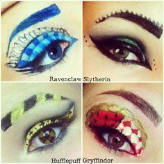 Hogwarts houses inspired makeup - hayleycakes.blogspot.com