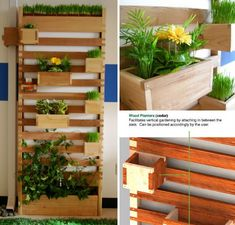 'Vert' is a vertical garden, a way to capture and use rainwater, and a potential screen for unsightly outdoor areas, all in one simple wooden structure. A cotton wick at the top draws water from a tank up to a self-watering planter; the cedar planter boxes can be arranged as desired. Such a system could allow users to grow food in small spaces without increased usage of tap water.