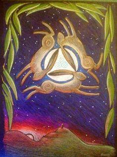 Solstice Hares ~ Hannah Willow Art
