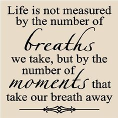 Amazon.com - Life is not measured by the number of breaths we take 12x12 vinyl wall art decals sayings quotes words home decor tile letterin...