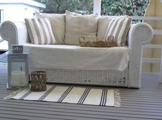 Deck Sofa Before / After at the Beach Cottage