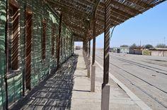Estación de trenes en la era del salitre