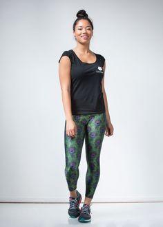 New Green Peacock Leggings - lineagewear - 1