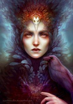 Beauty of Fantasy Fantasy Art Women, Dark Fantasy Art, Dark Art, Fantasy Portraits, Fantasy Paintings, Pics Art, Gods And Goddesses, Fantasy Creatures, Vampires