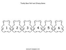 Printable bear math