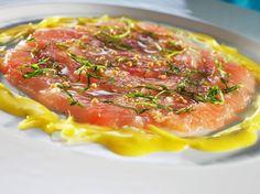 Marinert ishavsrøye Arctic Char, Norwegian Food, Risotto, Tapas, Ethnic Recipes