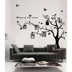 Memory of Tree Covered Photo Frame Wall Sticker