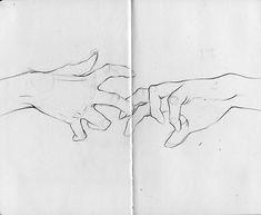 hands sketch drawing