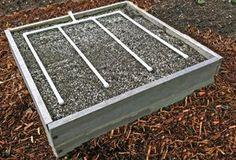 PVC Garden irrigation | 4x4 raised be irrigation