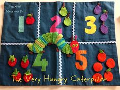 Counting up to 5 with The Very Hungry Caterpillar. Sew your own storytelling pieces.