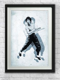 Bruce Lee Poster Martial Arts Art Print Kung Fu MMA by pikselmatic, $5.00