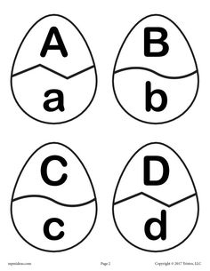 Easter Egg Alphabet Matching Game - FREE Printable Spring Activity