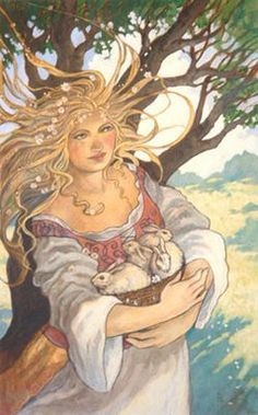 Celtic Lady: The Vernal Equinox - we are in perfect balance between light and dark. Pay loving attention to the fragile sprouts of inner growth which have survived the winter of hibernation, despite all odds, to push up through the soil into sudden view.