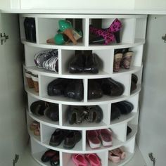 Lazy Susan for shoes..I need one.