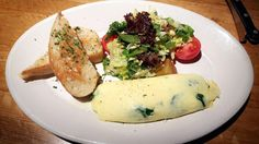 R & D kitchen's spinach and goat cheese omelet