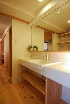 キッチンとの動線を持ったカウンタータイプの洗面 | 木のマンションリフォーム・リノベーション設計実例 | 木のマンションリフォーム・リノベーション-マスタープラン一級建築士事務所