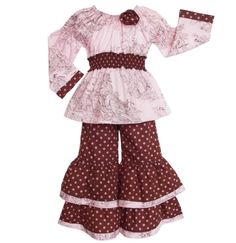 AnnLoren Toile & Dots Doll Outfit Clothing fits American Girl Christmas Gift