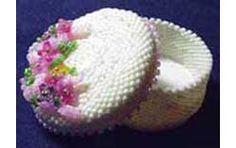 MINIATURE HAT BOX WITH FLOWERS, Sova Enterprises
