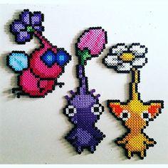 Pikmin hama beads by katjanpostiii