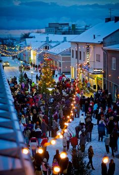 Hanko, south of Finland. Christmas street opening....