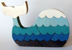 Whale Puzzle / Nursery Art - by Berkshire Bowls