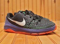 076df52bf9d3 Nike KD VIII 8 size 2Y - Black White Purple Orange - 768868 003  Nike