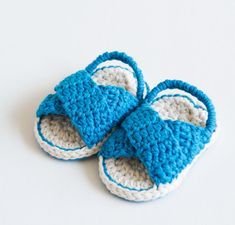 Crochet Baby Booties Sandals  Day at the beach by CrobyPatterns