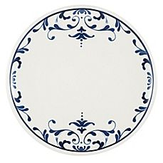 Everyday White® by Fitz and Floyd® Infusion Salad Plate - Table Settings Pottery Painting, Ceramic Painting, Blue And White Dinnerware, Navy Blue Decor, White Table Settings, Casual Dinnerware, China Dinnerware, Blue Dishes, Decorated Wine Glasses