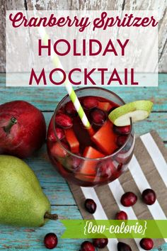 Signature Holiday Mocktail: Low-Cal Cranberry Spritzer | Southern State of Mind