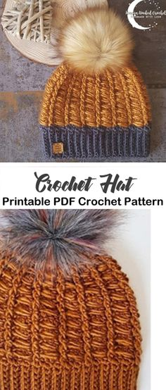 Make a Cozy Winter Hat crochet hat pattern - winter hat - beanie crochet pattern - amorecraftylife. Crochet Hat Sizing, Crochet Adult Hat, Crochet Beanie Pattern, Free Crochet, Knit Crochet, Crochet Patterns, Hand Crochet, Scarf Patterns, Knit Cowl