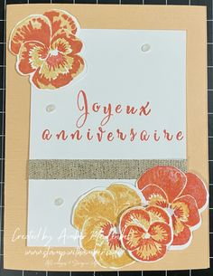 The new Pansy Peach stamp set from the 2021-2022 Stampin' Up! catalogue Pansies, Stampin Up, Peach, Blog, Cards, Stamping Up, Blogging, Peaches, Maps