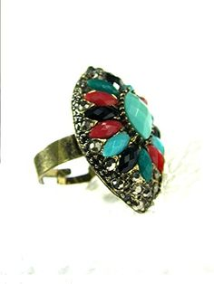Christmas Gift Vintage Style Ring Antique Slivertone Floral Women Fashion Jewelry Mogul Interior http://www.amazon.com/dp/B00Q9UJROK/ref=cm_sw_r_pi_dp_q0fEub05TXKPA