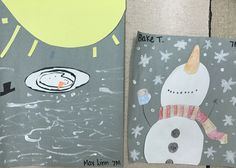 Snowman Art Projects for Middle School.