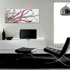 Quadri Astratti | foglia argento applicazione nero   SI-135 | 150x100 cm   SI-135M | 100x67 cm