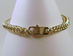 Sterling Silver Square Chainmaille Bracelet