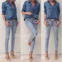 Love... Forever 21. Jean shirt. ♥