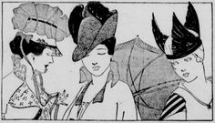 Fabulous Easter hats. From the April 21, 1916 Seattle Star.