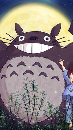 Totoro Forest Anime Cute Illustration Art Blue #iPhone #7 #wallpaper