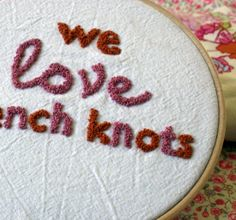 We Love French Knots - new embroidery site by BariJ