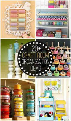 I gotta do something like this soon!! 20+ Craft Room Organization Ideas to help keep your craft room neat and tidy! { lilluna.com }