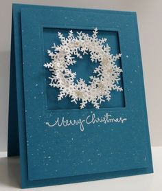 Snowflake Wreath by Loll Thompson - Cards and Paper Crafts at Splitcoaststampers