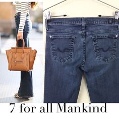 """7 for all mankind bootcut jeans 7 for all mankind bootcut jeans excellent pre loved condition. Vintage wash size 26 no damages inseam is 30"""" retail $180 7 for all Mankind Jeans Boot Cut"""