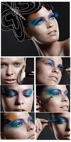 Maquiagem para o carnaval com sombra azul   Portal Tudo Aqui
