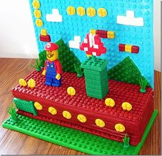 LEGO Mario Cake