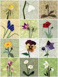 fiori paper piecing patchwork